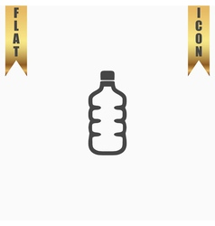 Icon of plastic water bottle vector image vector image