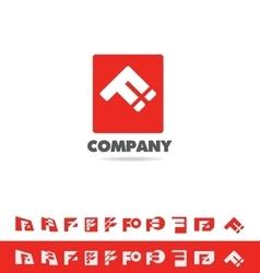 Letter f set logo icon vector