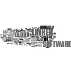 Linker word cloud concept vector