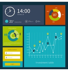 Modern colorful user interface layout in vector image