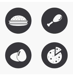 modern food icons set vector image vector image