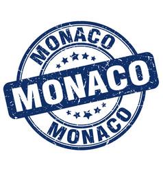 Monaco stamp vector