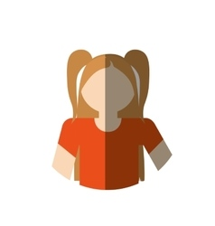 Portrait girl daugther kid with shadow vector