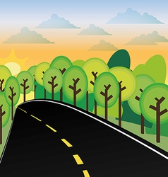 Road design vector image