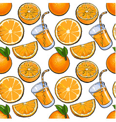 seamless pattern backdrop design of oranges and vector image vector image