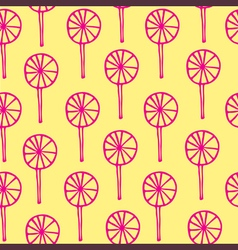 Seamless pattern lollipops sweetmeats vector