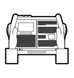 Tablet with document on screen icon image vector