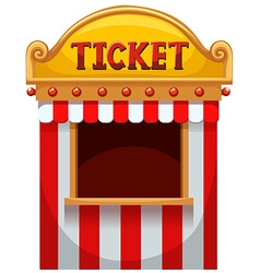Ticket booth at the carnival vector