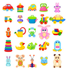 Toys for little children big set vector