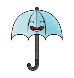 umbrella silhouette kawaii character vector image vector image