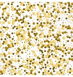 White and gold pattern balls background vector