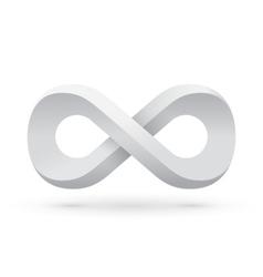 White infinity symbol vector