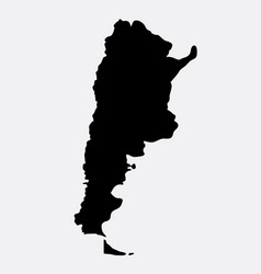 argentina islad map silhouette vector image