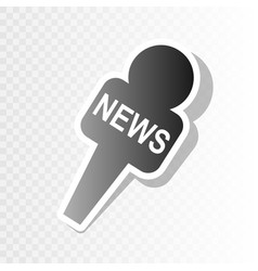 Tv news microphone sign   new vector