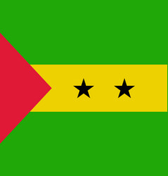sao tome and principe flag vector image