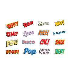 set of comic phrases vector image