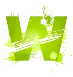 Letter w background vector