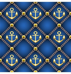Seamless anchor pattern vector