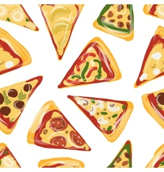 Pieces of pizza seamless pattern for your design vector