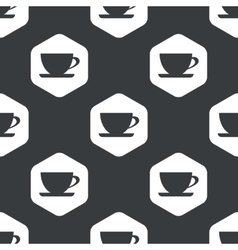 Black hexagon cup pattern vector