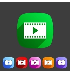 Film video cinema photo icon flat web sign symbol vector