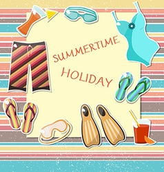 Summer holiday design elements vector