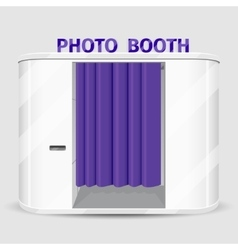 White photo booth vending machine vector