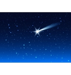 Night sky star drops in night sky make wish vector