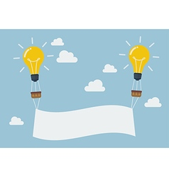 Lightbulb balloons with banner vector