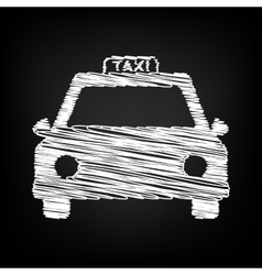 Taxi sign scribble effect vector