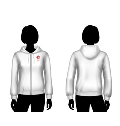 Women hooded sweatshirt template vector image