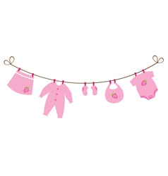 baby clothes strawberry vector image