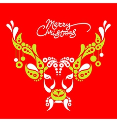 Background with christmas deer vector