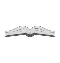 Book is open in the middle icon monochrome style vector image vector image