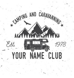 camping and caravaning club vector image