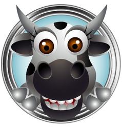 cute cow head cartoon vector image vector image