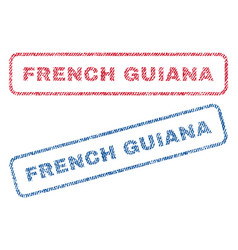 French guiana textile stamps vector