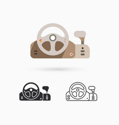Game controller - steering wheel vector