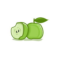 Green apple icon vector