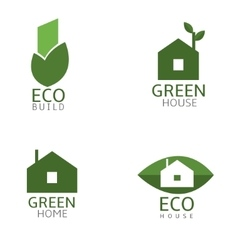 Green Biuld icons vector image vector image