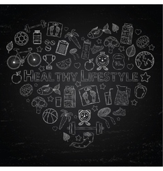 Healthy lifestyle heart vector