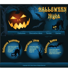 Helloween template background vector image