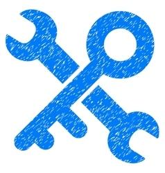 Key tools grainy texture icon vector