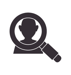 Magnifying glass person vector
