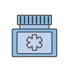 medicine bottle protein capsule vector image