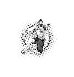mens handball vector image vector image