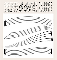 Music notes and scale template vector