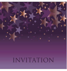 new year gold and violet star background vector image vector image