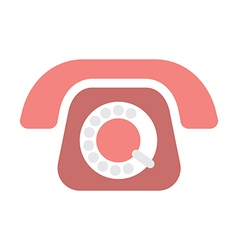 old phone on white vector image vector image