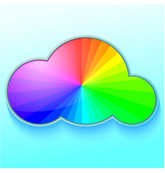 rainbow in cloud vector image